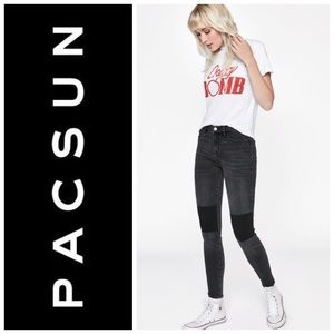 PacSun High Rise Ankle Jegging Size 24 in Black